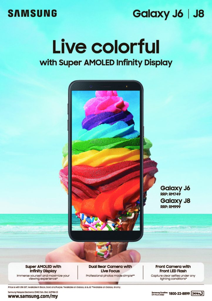 The New Galaxy J8 And J6 Live Colourfully Samsung Newsroom Malaysia