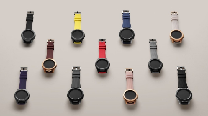 f931935cfc4e9f Furthermore, each product comes with straps in multiple colors, which users  can mix and match with the body to give a unique makeover of the Galaxy  Watch's ...