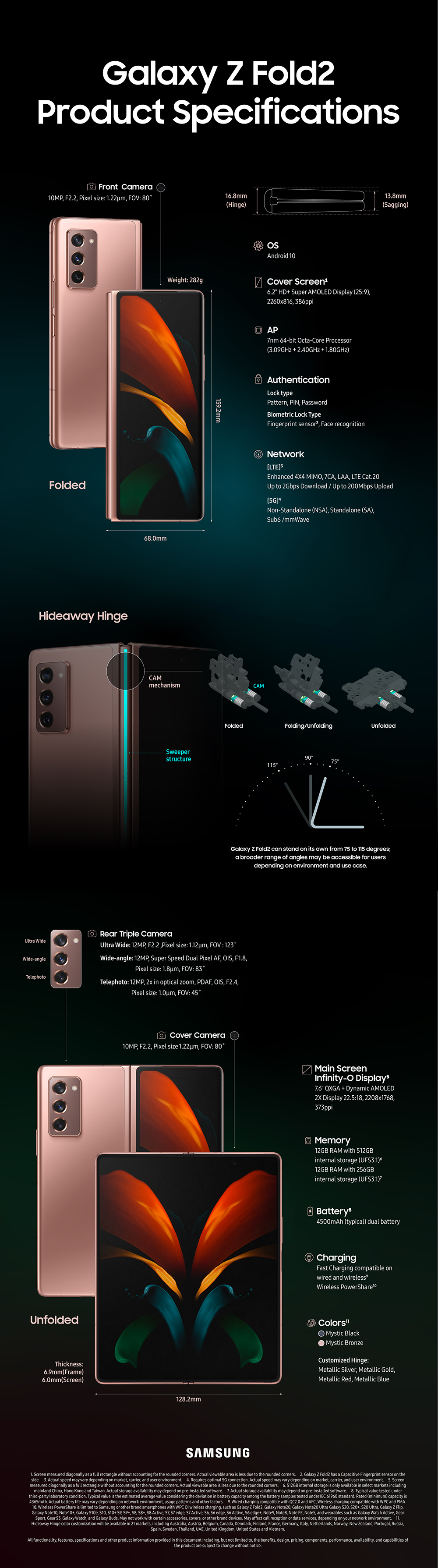 Samsung Galaxy Z Fold2 规格