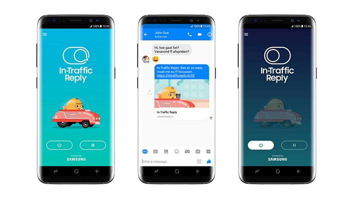 In-Traffic Reply standaard op Samsung-smartphones geïnstalleerd