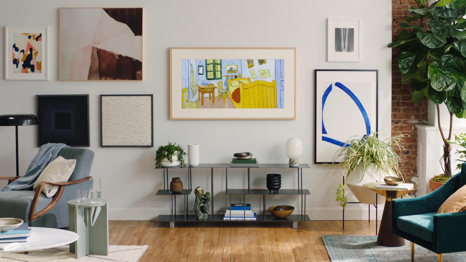 Kunst Vincent van Gogh thuis aan de muur met Samsung The Frame ...