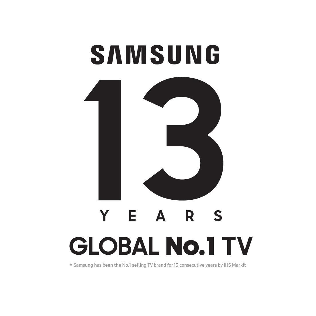 Samsung-13-Years-No.1-logo