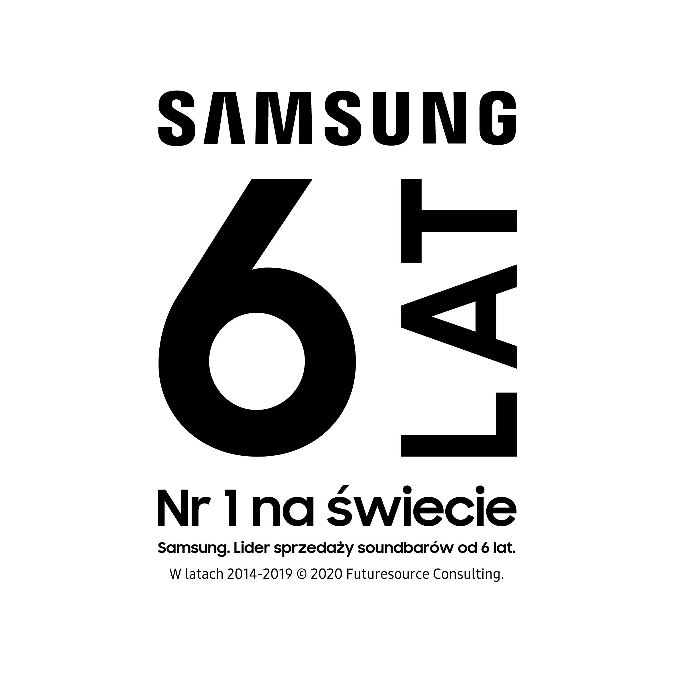 Samsung. Lider sprzedaży soundbarów od 6 lat.