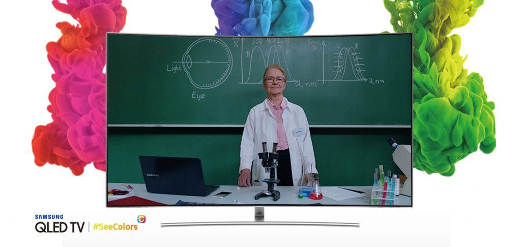 Samsung запускает SeeColors для QLED телевизоров