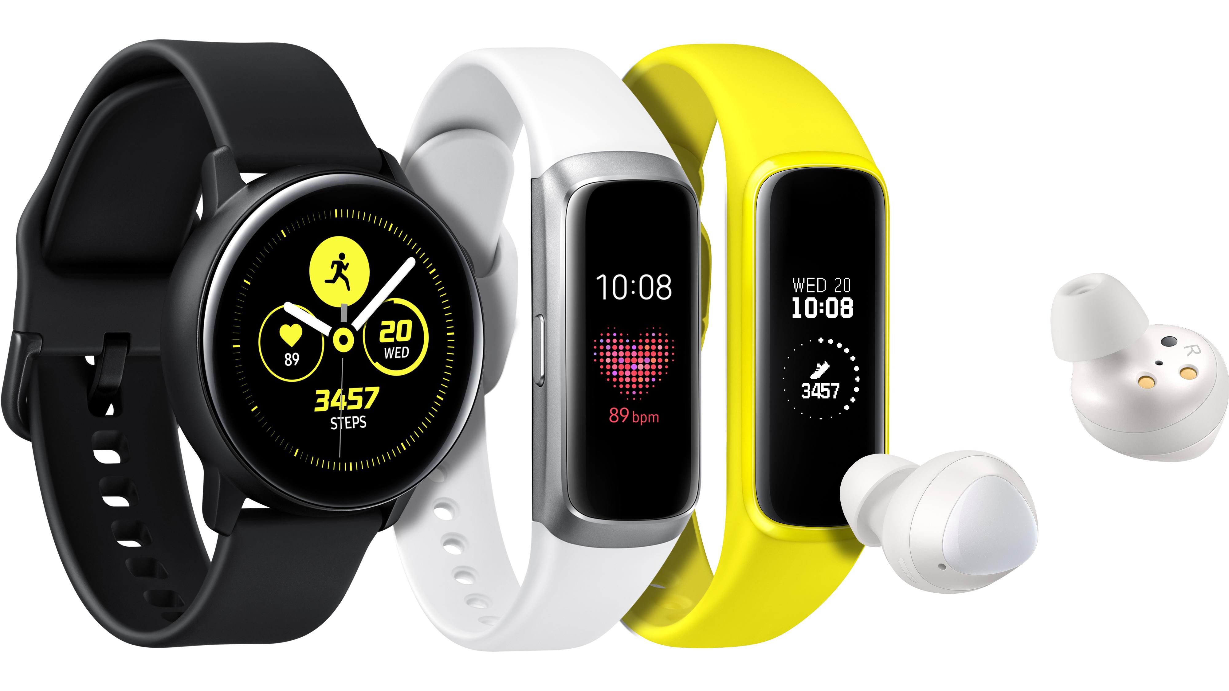 Samsung представляет новые носимые устройства