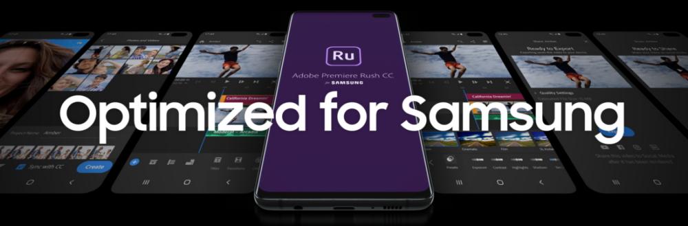 Adobe Premiere Rush для устройств Samsung Galaxy
