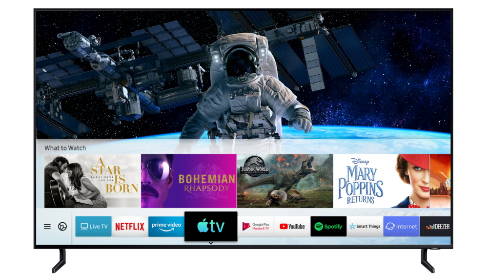 Samsung запустила на Smart TV приложение Apple TV и функцию AirPlay 2