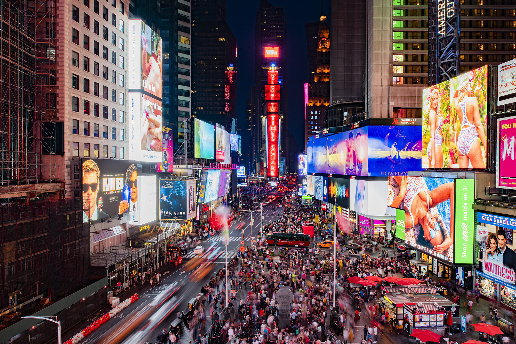 Samsung установила новейший LED-экран в центре Нью-Йорка