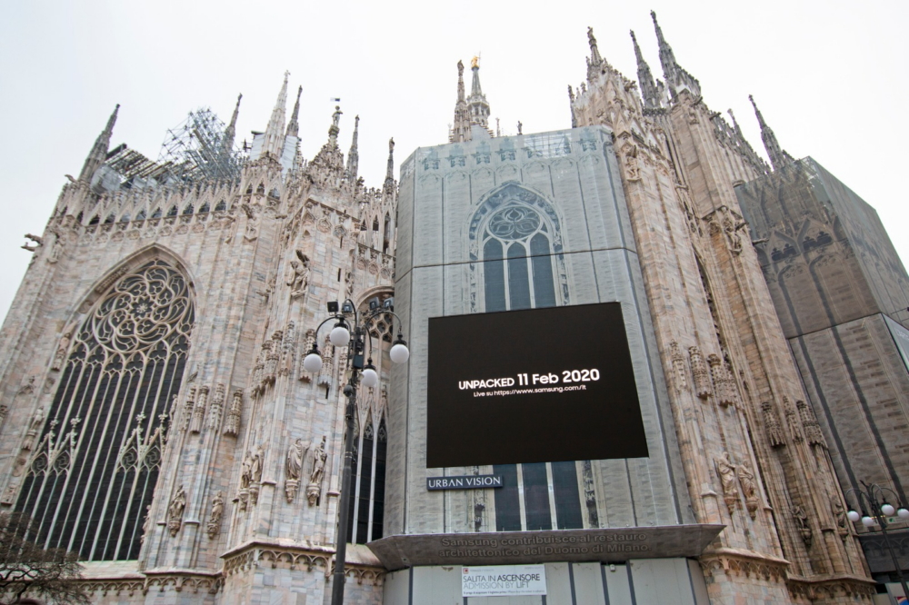 Samsung запустила промо-кампанию в поддержку Galaxy Unpacked  на крупнейших медиафасадах мира