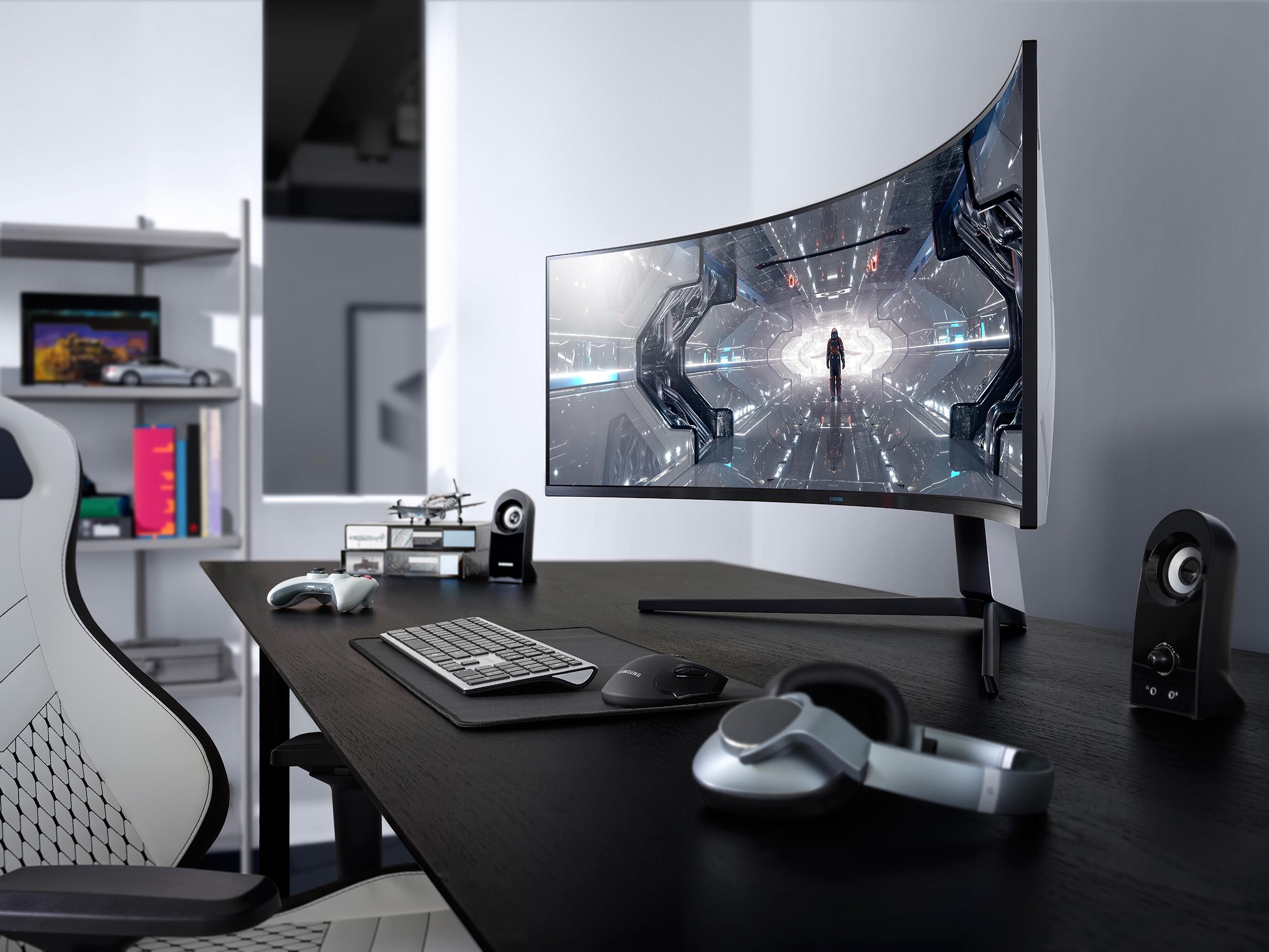 Samsung представляет игровые мониторы Odyssey на CES 2020