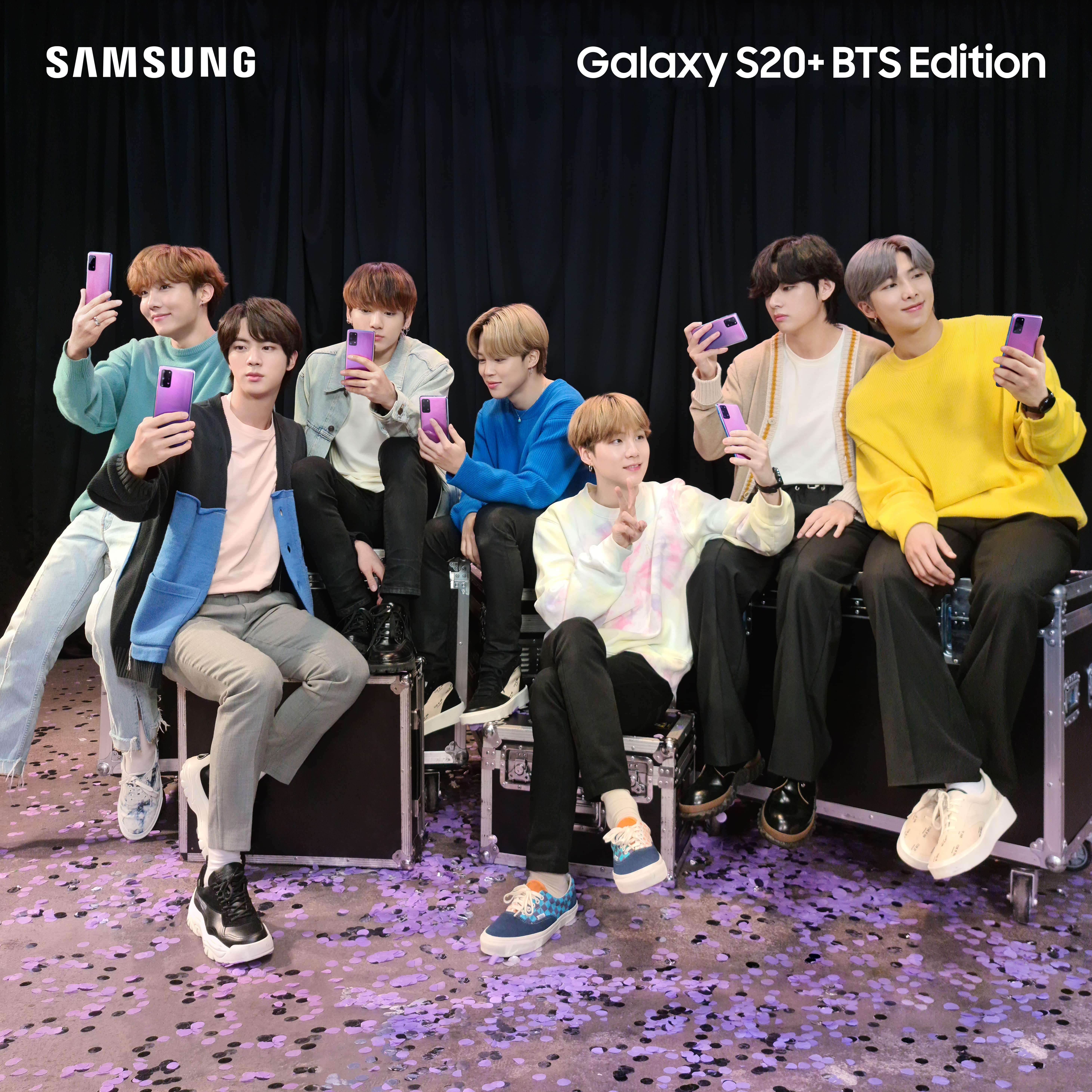 Samsung представляет Galaxy S20+ и Galaxy Buds+ BTS Edition