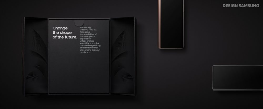 О новом дизайне Galaxy Z Fold2