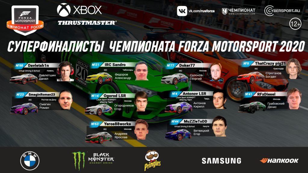 Samsung поддержит суперфинал Чемпионата Forza Motorsport 2020