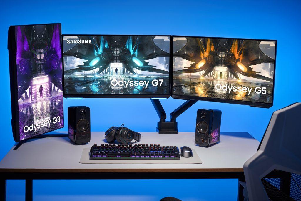 Samsung представила обновленную линейку игровых мониторов Odyssey 2021 года