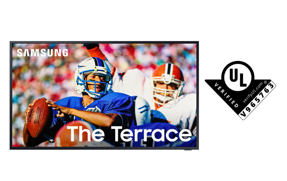 Samsung The Terrace первыми в отрасли прошли сертификацию видимости изображения при работе в условиях естественного освещения