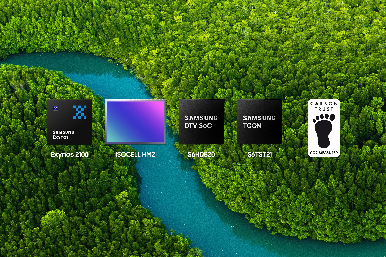 Логические микросхемы Samsung получили сертификацию CO2 Measured от Carbon Trust