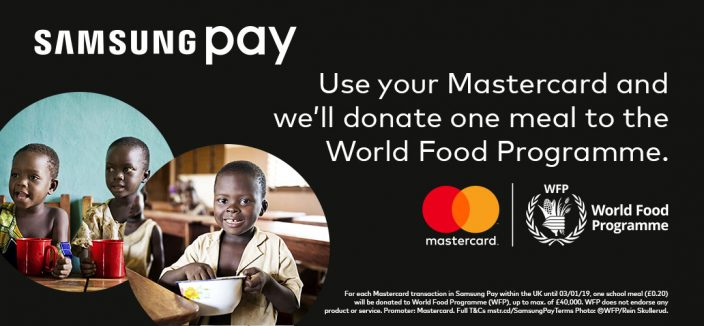Feed The World Samsung Pay Joins With Mastercard To Help The World Food Programme Combat World Hunger Samsung Newsroom U K