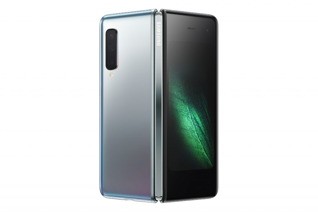 'rear' view of the Samsung Galaxy Fold