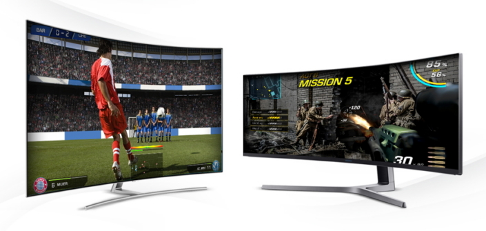 Gaming On The Big Screen 65 Qled Tv And 49 Qled Monitor