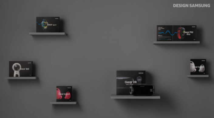 products on shelving against a wall