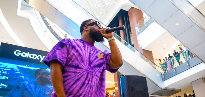 Samsung and Cassper Nyovest Take Over Sandton City